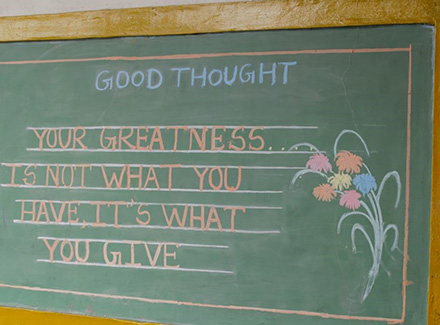 Blackboard with good thought written on_thumbnail