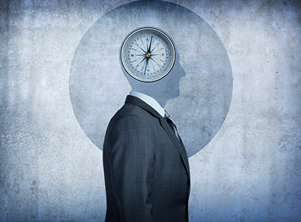 Illustration_man with a clock in his head