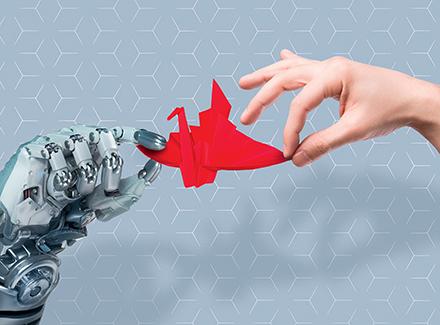 Robot hand meets human hand