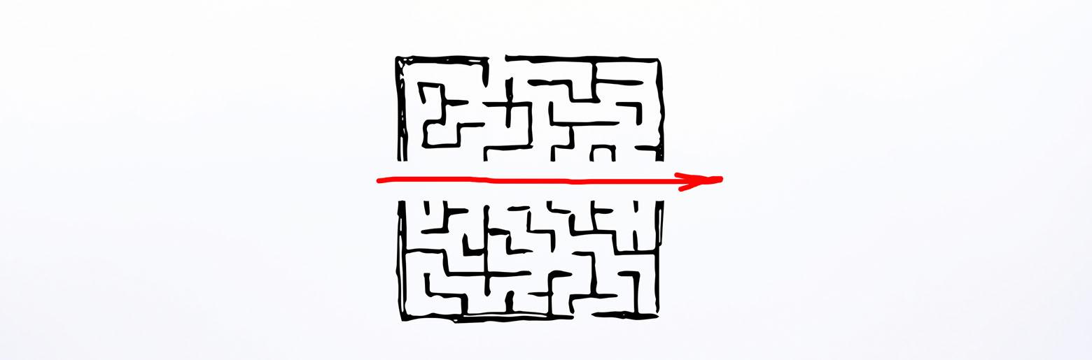 Labyrint tegnet på veggen_topbanner